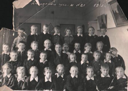 Фотография класса в 1953 году